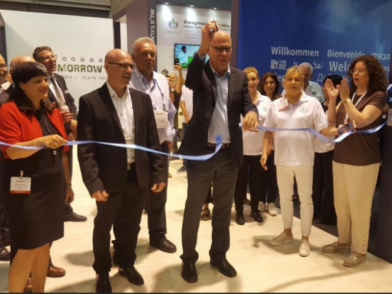 The agricultural exhibition in Tel Aviv was attended by 50 ministers from around the world
