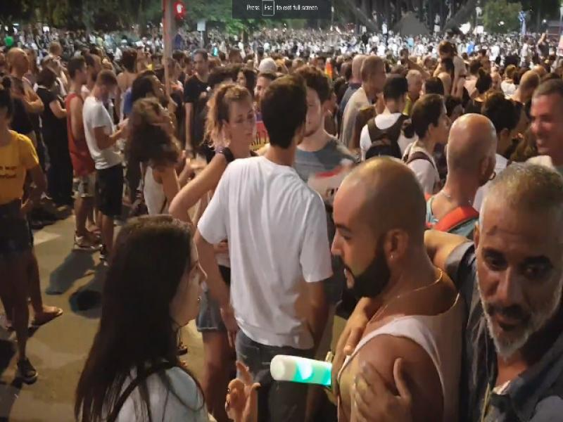 80 thousand of the gay and lesbian community participated in the protest rally in Tel Aviv