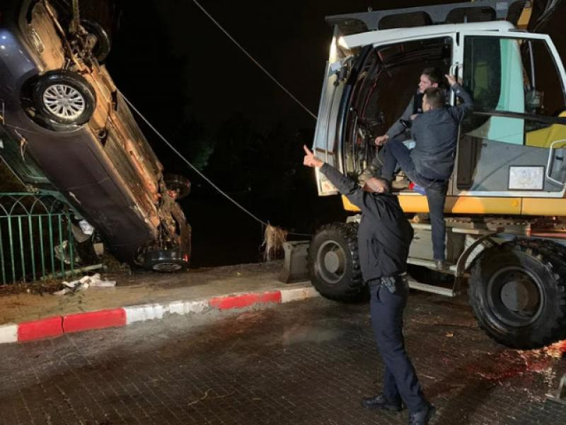 A 71-year-old Binyamina resident was killed  after being swept away by floods