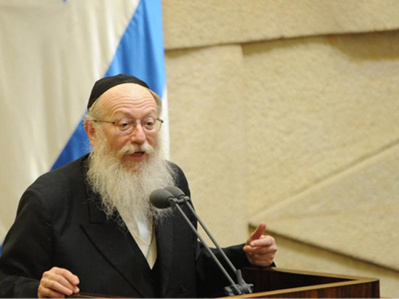 Police: indite Deputy Health Minister Yaakov Litzman  of exploiting his position and authority